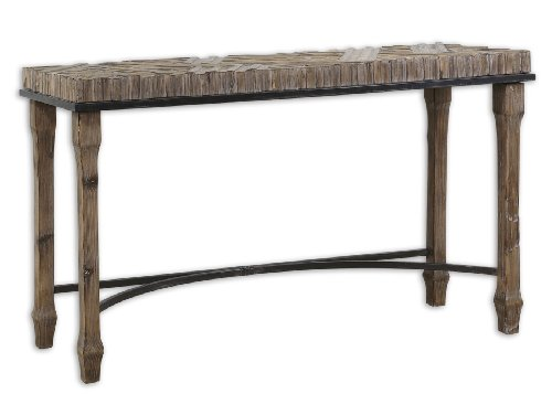 """Uttermost 31.5"""" Tehama, Console Weathered, Sanded, And Lightly Burnished Tural Fir Wood"""