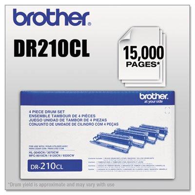 DR210CL Drum Unit, 15000 Page-Yield, Black, Cyan, Magenta, Yellow, 4 Color Set