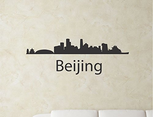 Beijing China City Skyline Vinyl Wall Art Decal Sticker front-517361