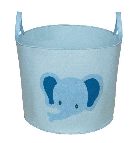 Delta Children Enterprise Nursery And Toy Storage Bin, Baby Blue With Elephant