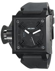 Welder Men's K25B-4503 K25B Analog Black Ion-Plated Stainless Steel Square Watch