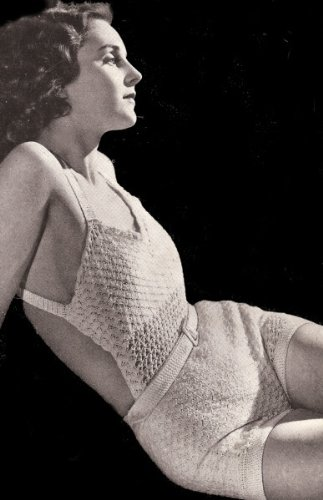 Vintage Crochet PATTERN to make - Sunsuit Halter Shorts Swimsuit. NOT a finished item. This is a pattern and/or instructions to make the item only.