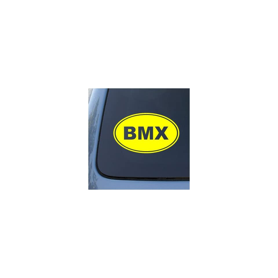 BMX EURO OVAL   Bike   Vinyl Car Decal Sticker #1688  Vinyl Color Yellow