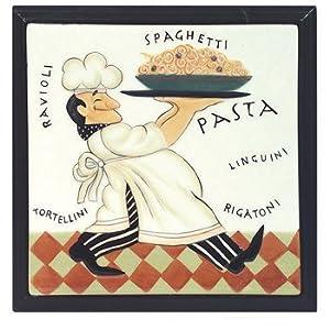 Amazon.com - Italian Bistro Fat Chef Kitchen Trivet Hot Plate Decor