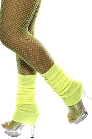 Smiffy's Unisex-Adult Leg Warmers, Yellow, One Size