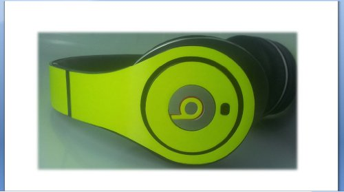 Neon Yellow Lime Green Decal Compatible With Beats By Dr Dre Studio Sticker