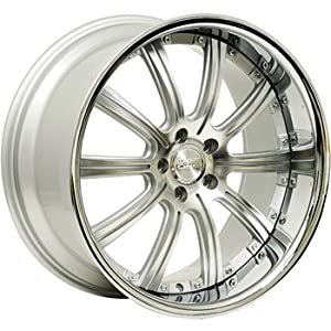Concept One 748 RS-10 Silver Machined Wheel with Painted Finish (22×9″/5x120mm)