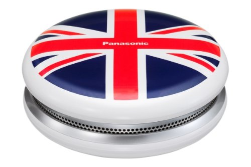 Panasonic Sc-Mc07E-Wa Compact Wireless Stereo Bluetooth Speaker System With Cool Union Jack Design Powerful 2W Output Etc