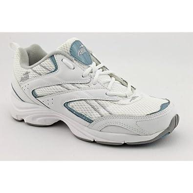 Buy Avia A313 Ladies Size 10 White Leather Walking Shoes UK 8 EU 42 by Avia
