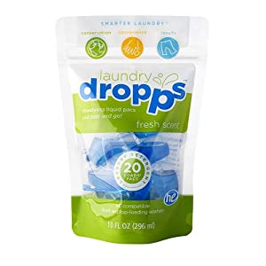 Dropps Detergent Pacs - Fresh Scent - 20 ct