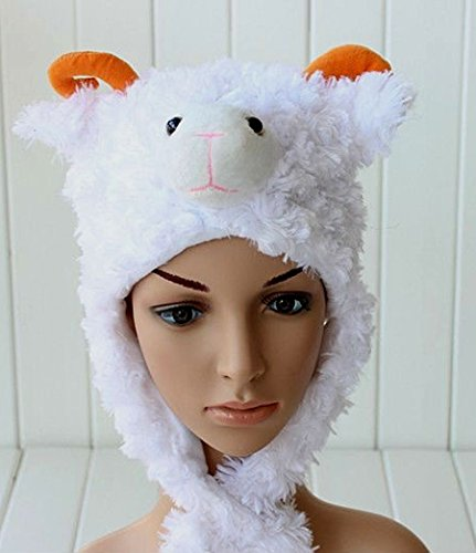 White Sheep Animal Plush Hat