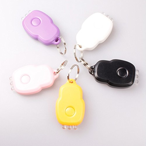 3 Led Purple Light Portable Laser Keychain Light Five-Color ; Black Color