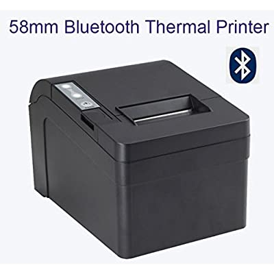 Xprinter XP-T58K 58MM Bluetooth Portable Thermal Receipt Printer(Black) for Android