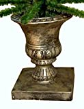 7.5 ft. Green Artifical Ornament Display Christmas Tree in Pewter Urn Pot, or Twig-Style Charlie Brown Tree