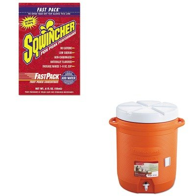 Kitrub1610Orgsqw015305Fp - Value Kit - Sqwincher Corp Fast Pack Drink Package (Sqw015305Fp) And Rubbermaid Insulated Beverage Container (Rub1610Org)