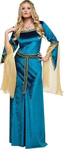 Funworld Womens Medieval Tribe Renaissance Princess Theme Party Fancy Costume