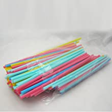 180 Neon Drinking Straws Flexible Plastic Party Home Bar Drink Cocktail Cup Fun
