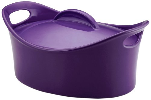rachael-ray-stoneware-425-quart-covered-bubble-and-brown-casseroval-casserole-purple-by-rachael-ray