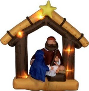 Airblown Inflatable 9 Ft Tall Nativity Scene front-966718