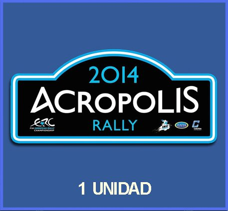 pegatinas-stickers-rally-acropolis-2014-dp537-rallye-aufkleber-decals-autocollants-adesivi-car-decal