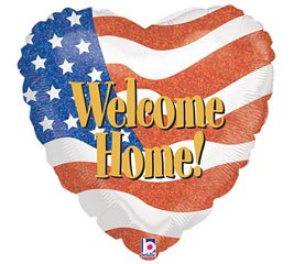 "Welcome Home 18"" Mylar Balloon"
