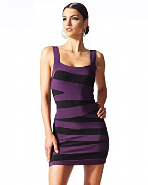 Sexy Striped Banded Dress :  sexy striped banded dress striped bebe sexy