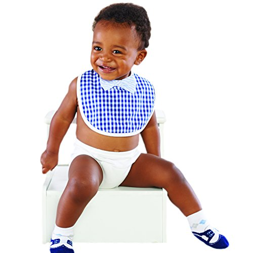 Baby Aspen Little Man 2 Piece Bib Gift Set, Blue/White - 1