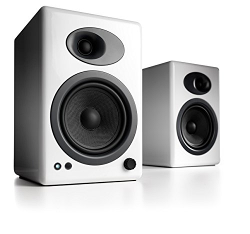 Audio Engine A5+W Powered Desktop Speakers (Pair) in Gloss White Black Friday & Cyber Monday 2014