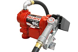 Fill-Rite FR610G Fuel Transfer Pump, Telescoping Suction Pipe, 12\' Delivery Hose, Manual Release Nozzle - 115 Volt, 15 GPM
