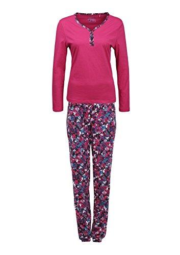 s.Oliver Damen Zweiteiliger Schlafanzug 25.412.88.5912, Einfarbig, Gr. 36 (Herstellergröße: 36), Rot (Fruit Punch Red 4484)