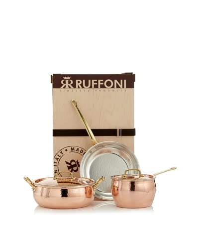 Ruffoni Historia 5 Pc Set Including Saucepan, Braiser, Fry Pan And 2 Lids, Copper