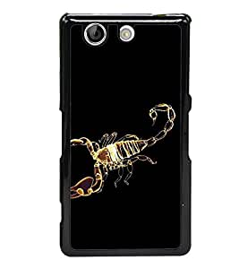 Golden Scorpion 2D Hard Polycarbonate Designer Back Case Cover for Sony Xperia Z4 Compact :: Sony Xperia Z4 Mini