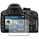 6 x Clear Screen Protectors for Nikon D3200 (Digital SLR) - Anti-Scratch LCD Guard / Display Savers