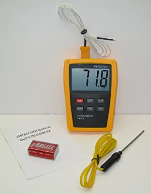 K-type Scientific Digital Thermometer DM6801 with Stainless Steel Thermocouple TC2