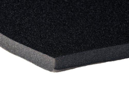 "FatMat Hood-Liner 34"" x 54"" x 3/4"" Thick Self-Adhesive Automotive Sound Deadening Hood Liner - Black Urethane Face"