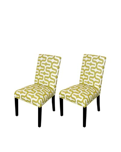 Sole Designs Set of 2 Embrace Artist Dining Chairs, Green