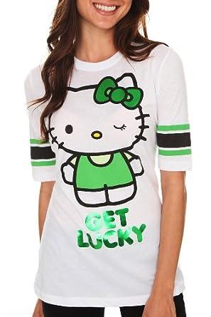 Hello Kitty Get Lucky Hockey Girls T-Shirt Size : Medium