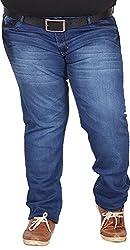 Xmex Men's Denim Jeans (AF-1002M.BLUE, Blue, 42)