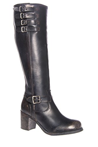 Kelly Belted Tall Mid Heel Boot