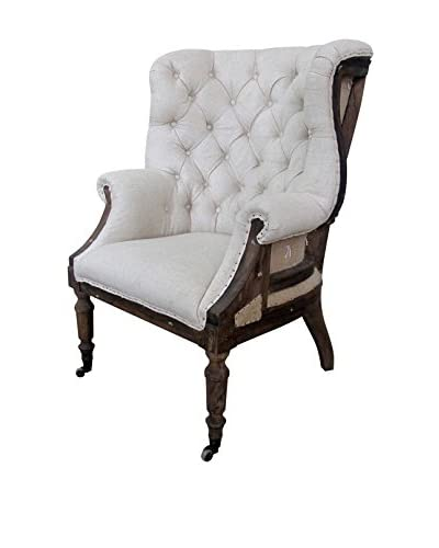 White x White Taverny Chair, Linen, Off-White