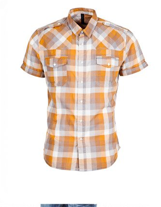 Crafted Dabin Shirt - Orange - Mens