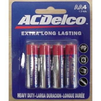 AAA 4 pack Heavy Duty Batteries Case Pack 48 (Ac Delco Batteries 48 compare prices)