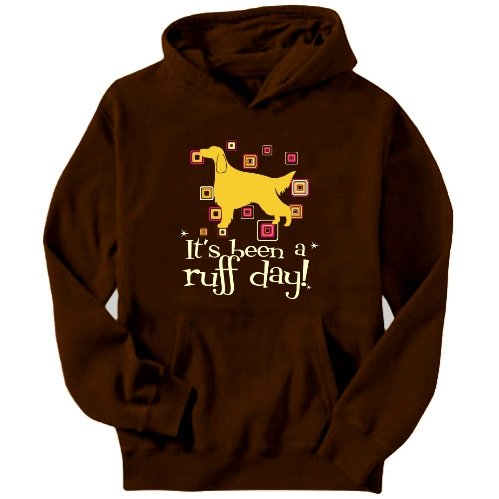Irish Setter It´s Been A Ruff Day! Mens Hoodie