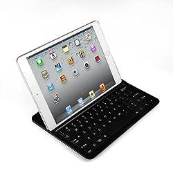 FlyStone 3 in 1 Aluminum Case and Wireless Bluetooth Ultrathin Keyboard Cover for Apple iPad 7.9 iPad mini USA (BLACK)