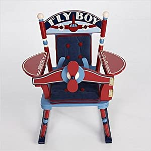 Rock A Buddies Fly Boy Airplane Rocker