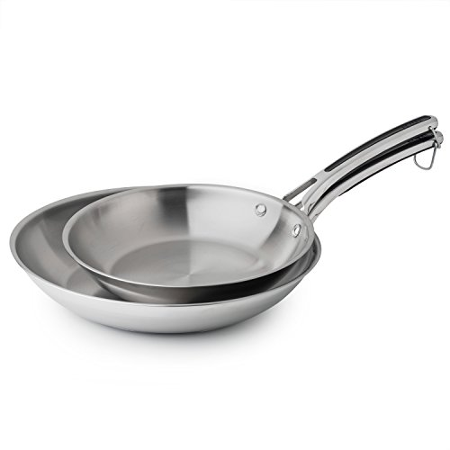 """Revere 10 and 12"""" Fry Pan Set, One Size, Stainless Steel"""