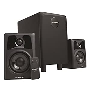 M-Audio AV32.1 | Compact Active Desktop Reference Monitor Speakers with Subwoofer for Premium Playback, Professional Media Creation and Immersive Gaming Sound