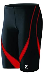 TYR Alliance Splice Jammer Swimsuit, Black/Red, Size 38