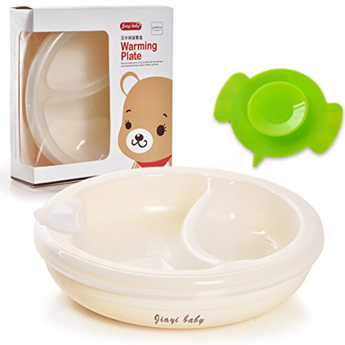 Novias Baby Infant Toddler Kids Feeding Eating Food Warming Plate Bear Tableware Dinnerware With Spoon (Food Warming Tables compare prices)