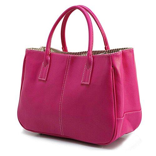 DELEY Donna Moda Design Semplice Office Ladies Business Bag Handbag Borsa A Tracolla Rose Rossa